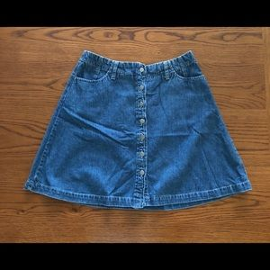 Dockers Button Front Denim Skirt (Size 10)